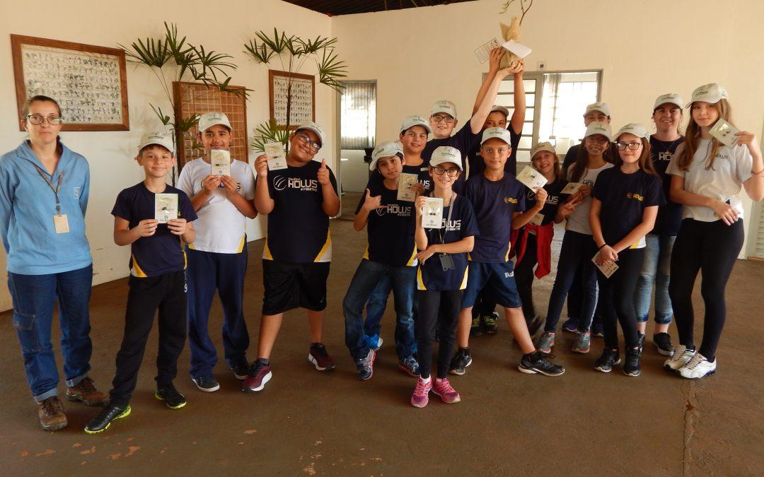 Visita dos alunos à Usina São Manuel